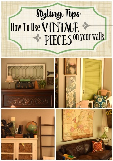 How to Use Vintage Pieces on your walls
