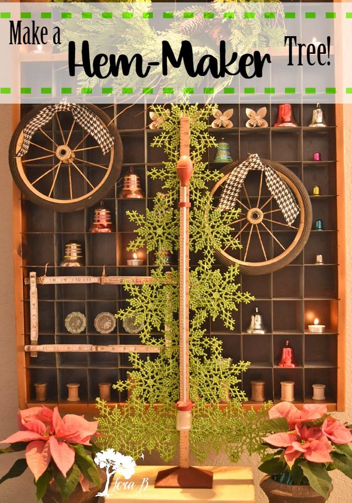 Hem-Maker Tree and a Postal Sorter Christmas Display