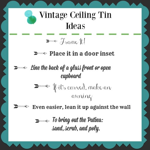 vintage ceiling tin ideas