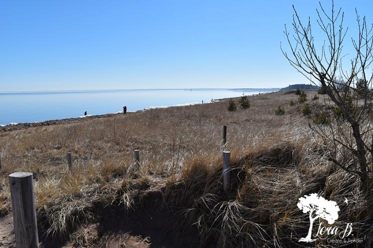 sandy beach on Lake Superior