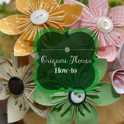 origami flower folding how-to