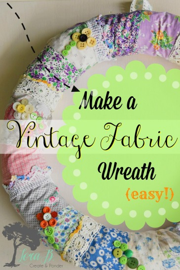 how to make a vintage fabric wreath