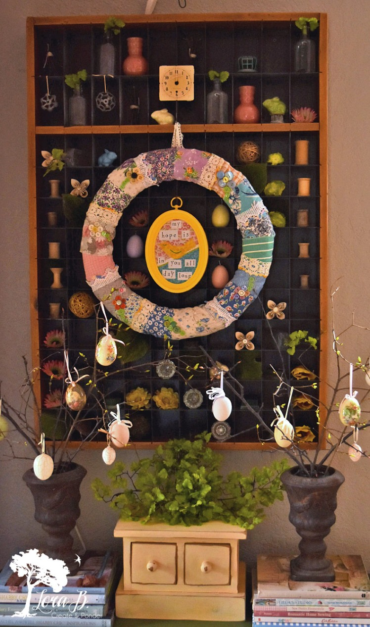vintage spring industrial display