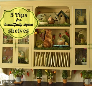 5 Tips to style shelves.