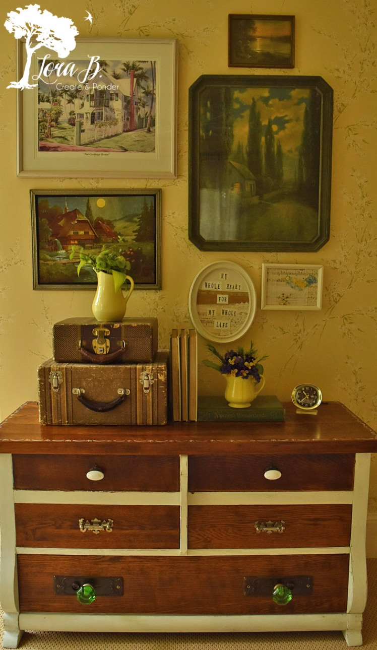 Vintage Hope chest refreshed with paint and stain.