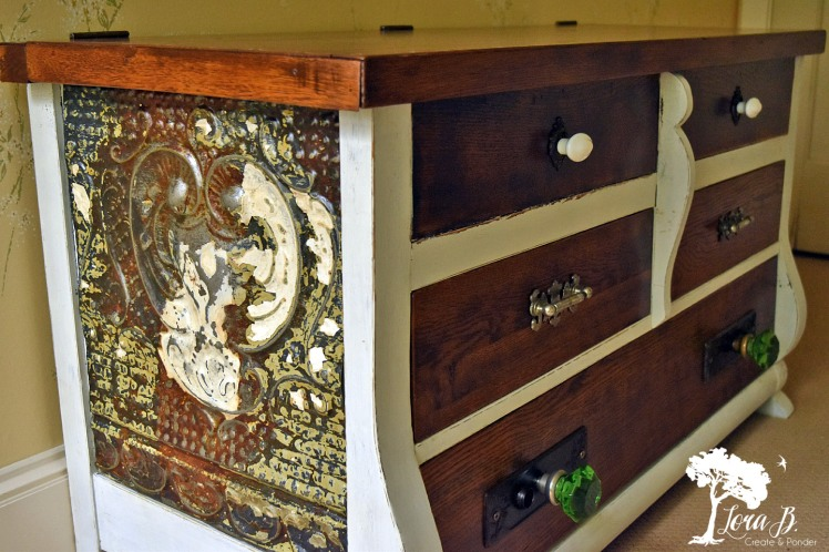 Vintage Hope Chest refreshed with antique hardware.