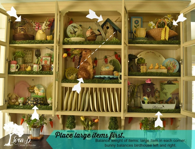 Kitchen cupboard with styling tips.