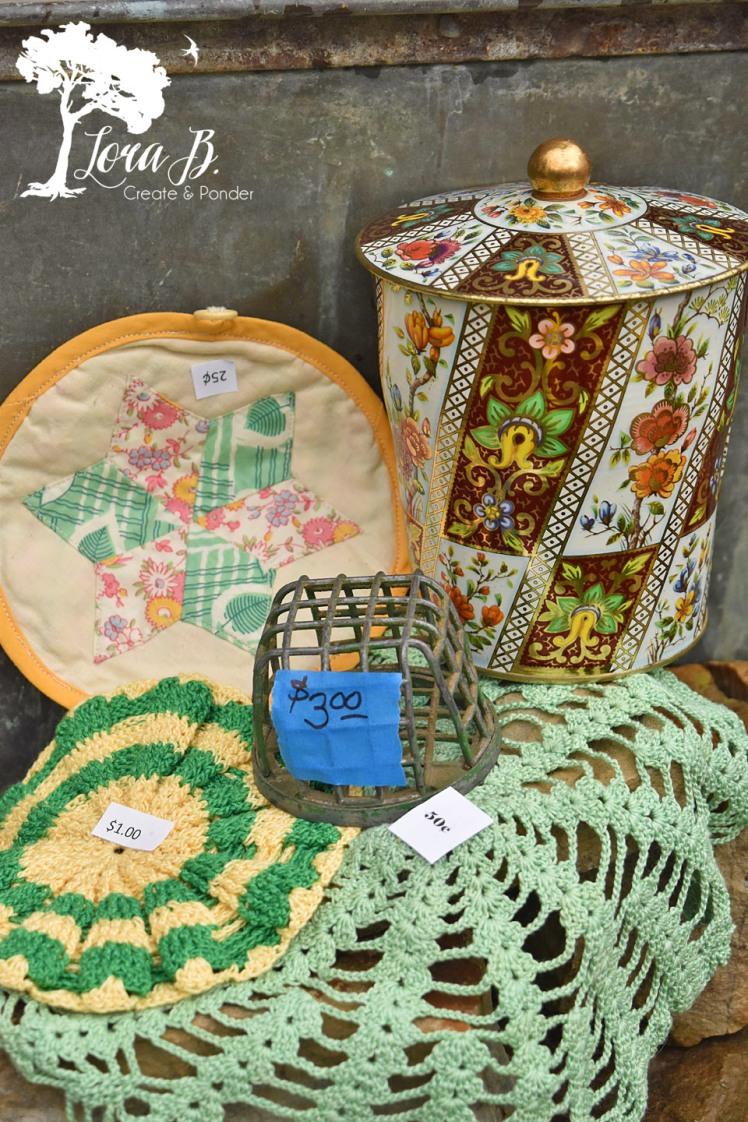 Garden colored accessories.