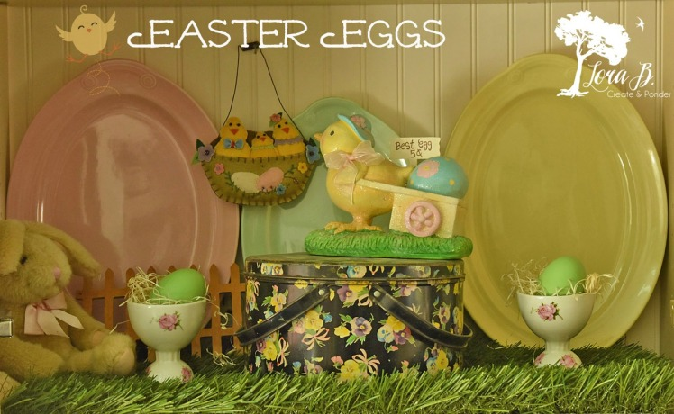 Oval platters displayed as Easter Eggs