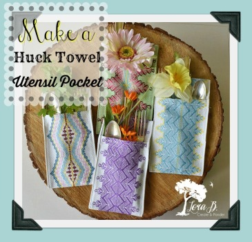 Huck towel utensil pocket