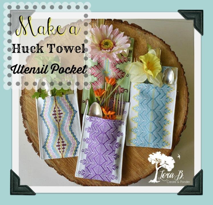 Huck towel utensil pocket