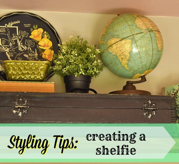 Vintage globe on old toolbox.