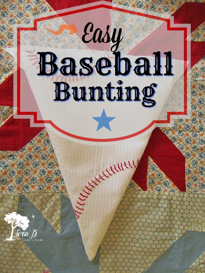 Baseball Bunting Pin