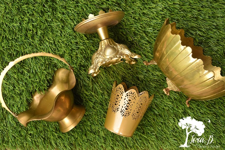 Gold accented decor items.