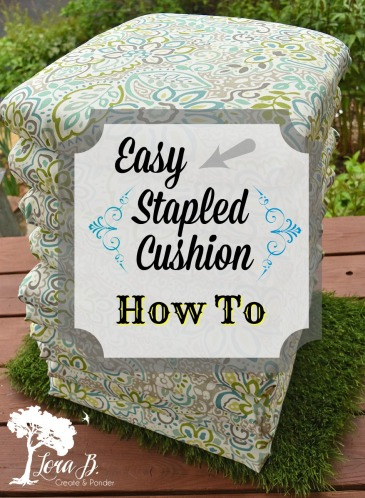 Stapled Cushion how to