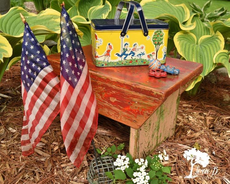 little vintage chippy stool