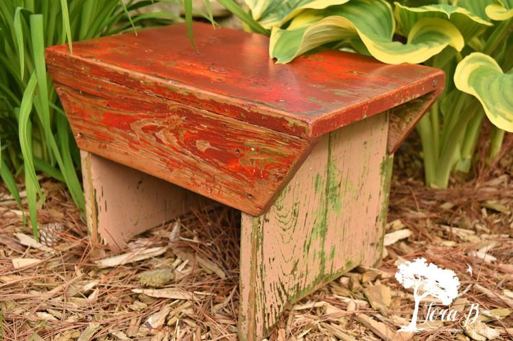 little vintage stool