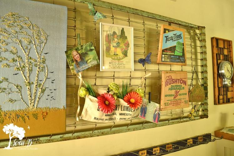 Bedspring display
