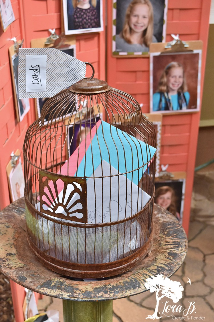 Birdcage with cards