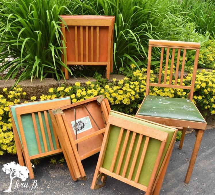 Leg--matic folding chairs.