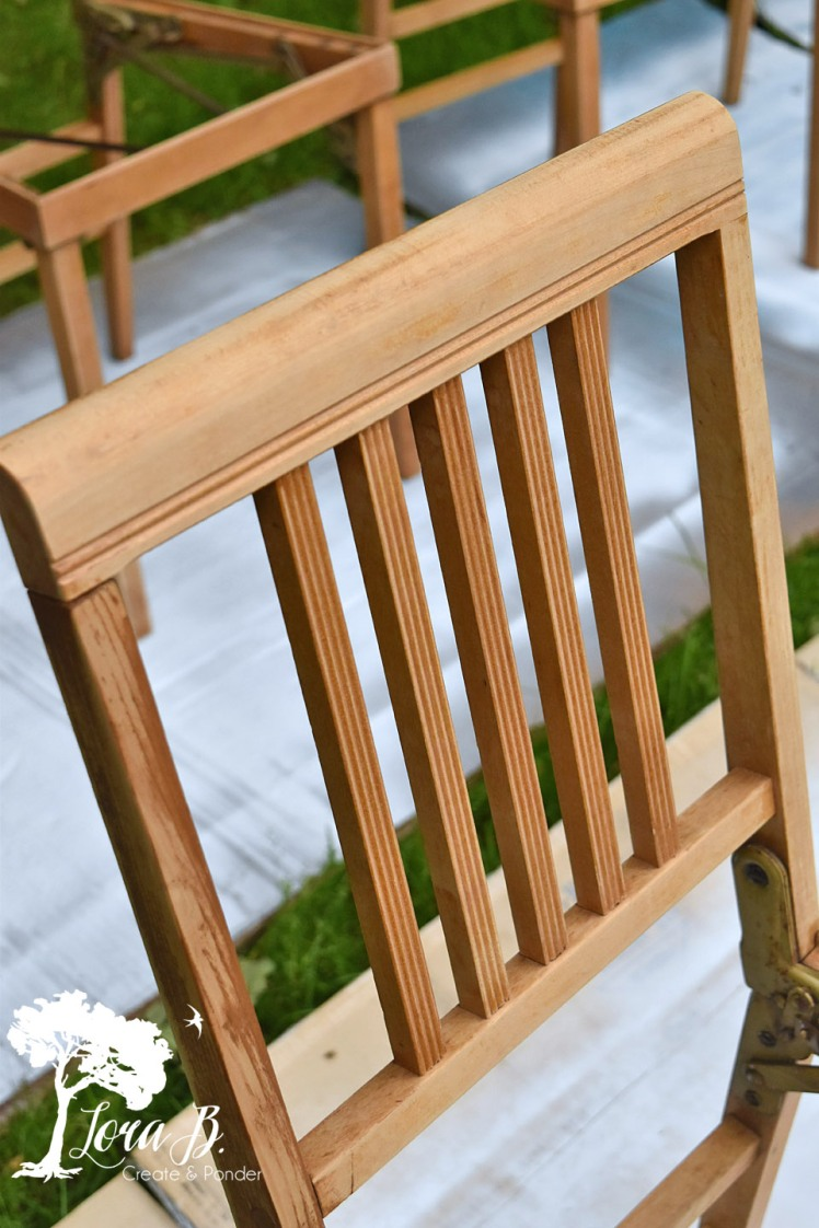 Maple chair back.