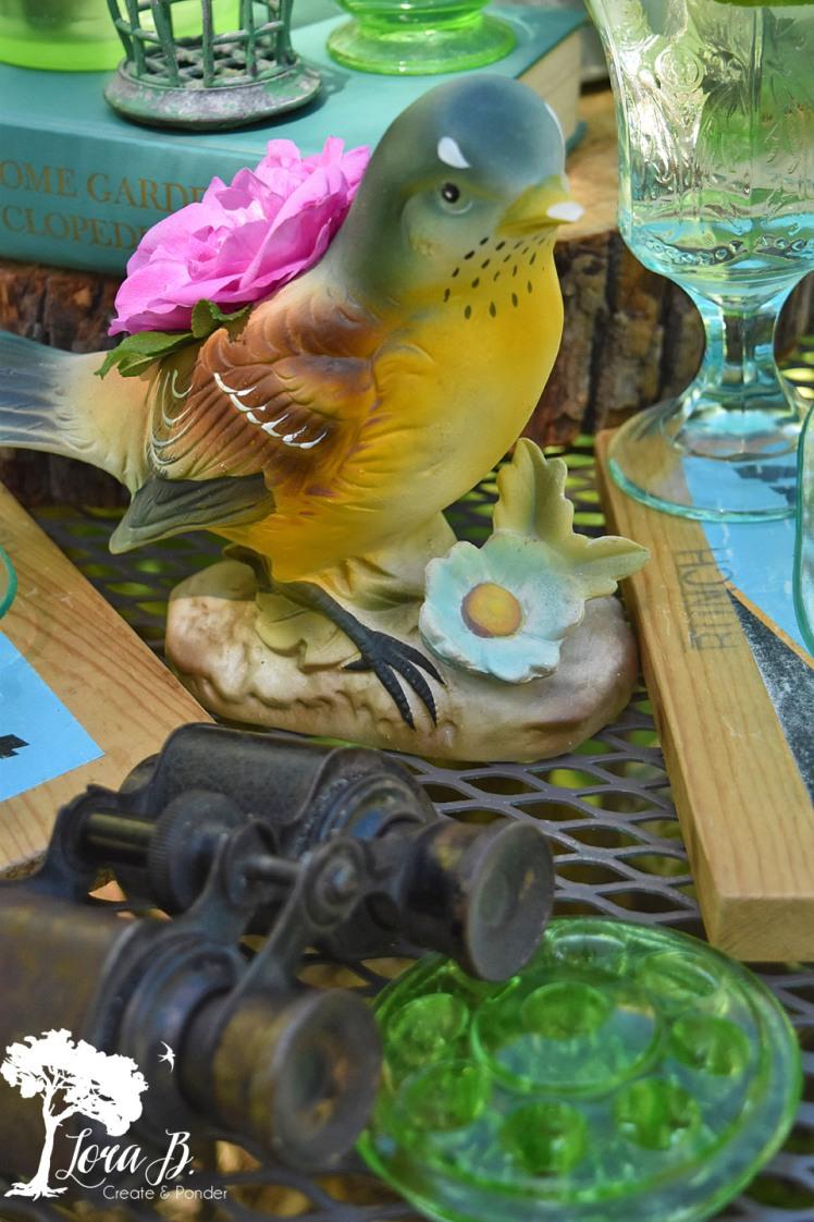 Vintage bird vase.