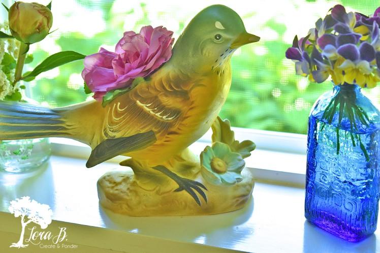 Vintage bird vase