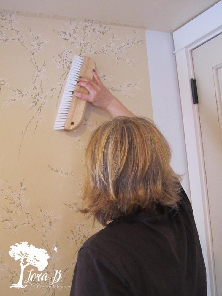 wallpapering walls