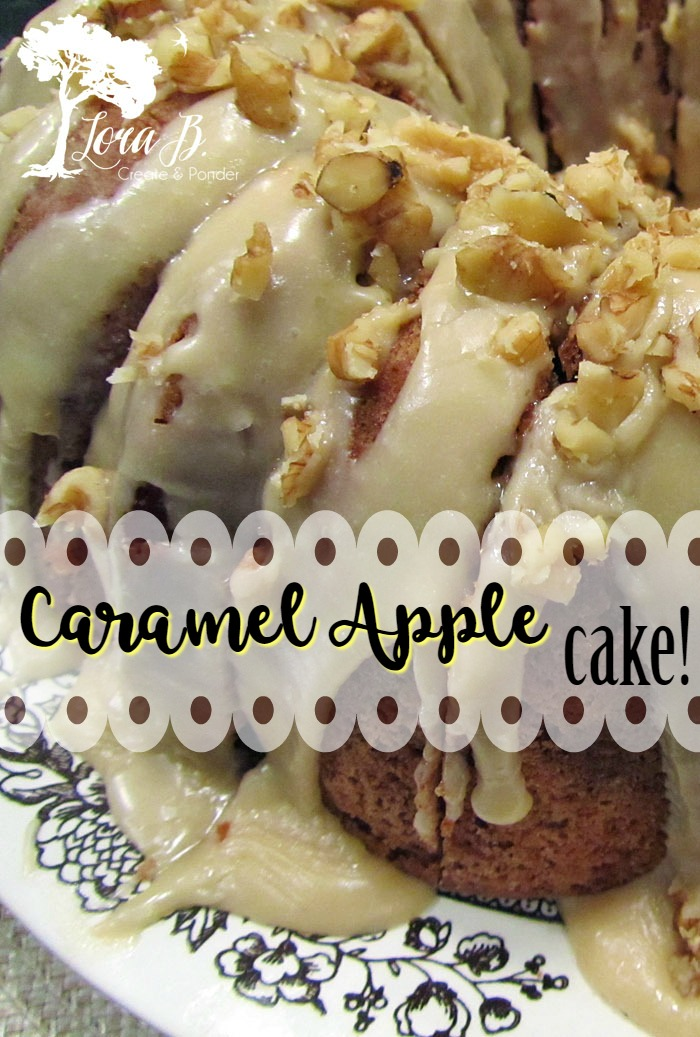 Caramel Apple cake is moist and delicious.