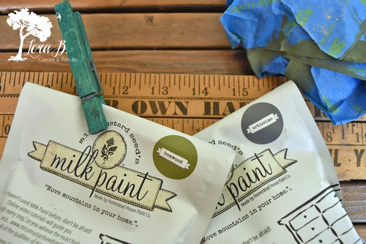 Miss Mustard Seed's Milk Paint creates a vintage chalkboard look.