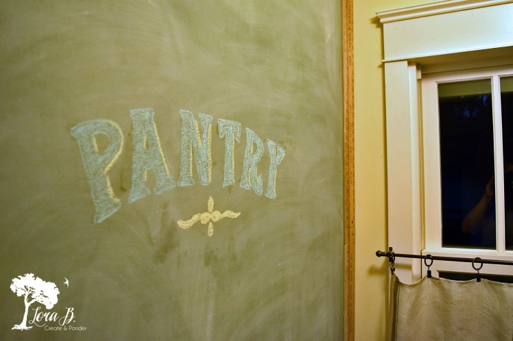 Pantry Chalkboard Wall