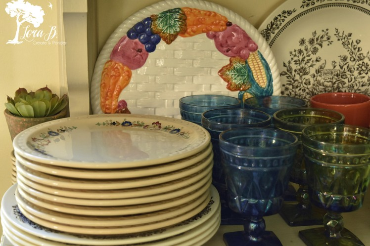 Vintage plates and glasses