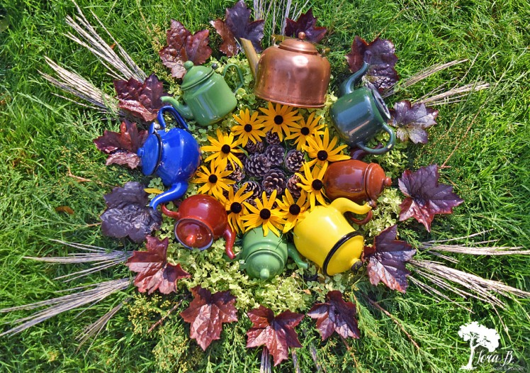 Enamelware teapot collection