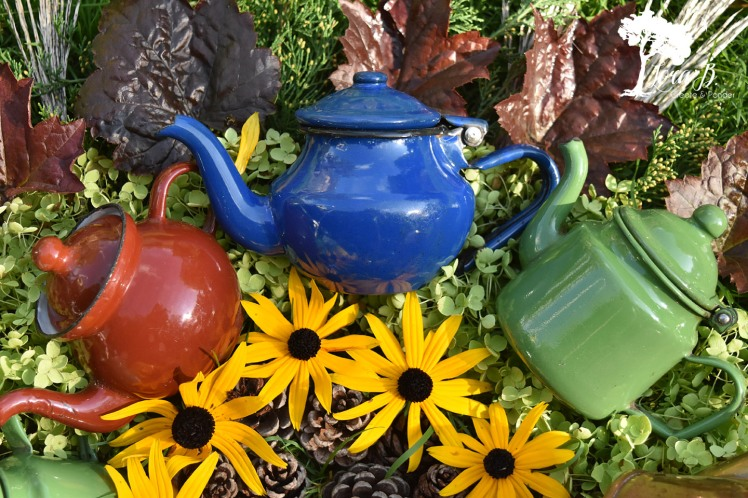 Enamelware Teapots are a fun collection.