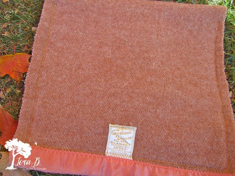 Vintage Wool Blankets have wonderful old tags.