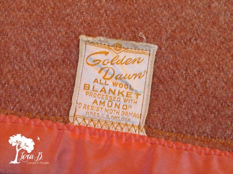 Vintage Blanket tag.