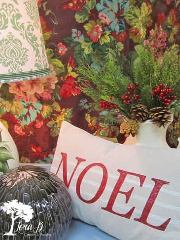 Christmas Hand-Stenciled Pillow