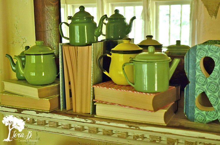 Vintage Enamelware teapots.