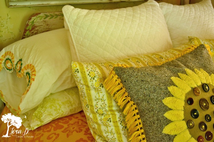 Vintage and new bedlinens.