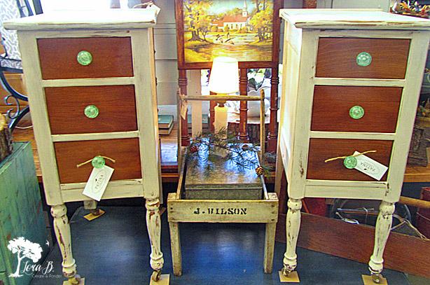 Vintage Vanity Side Tables Refreshed