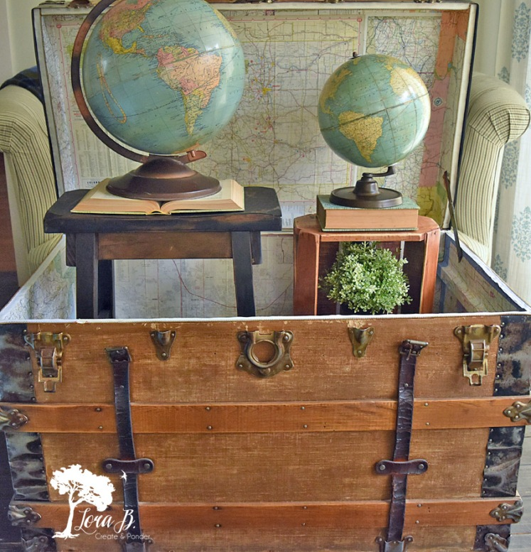 Refreshed antique trunk