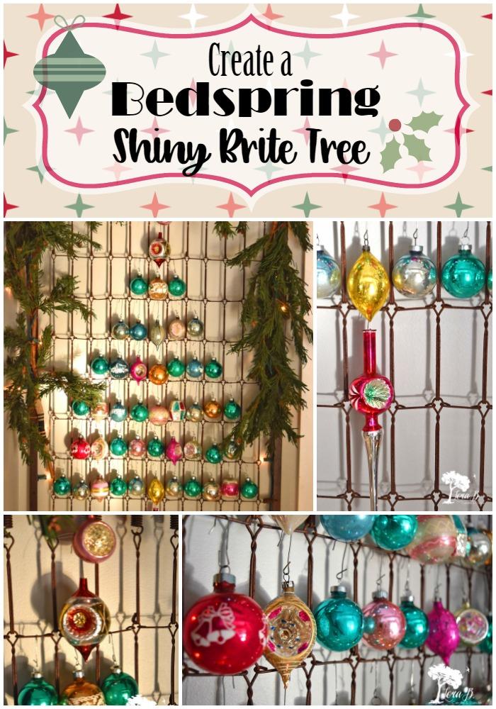 Bedspring Shiny Brite Tree