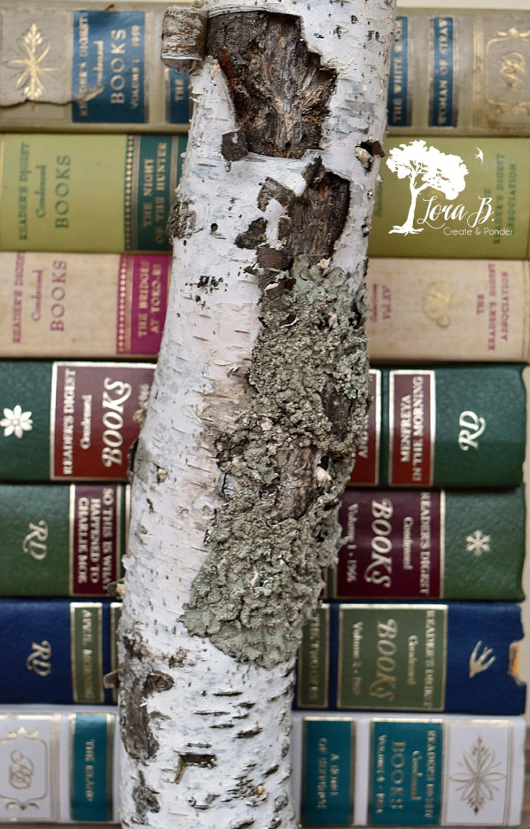 Create a tree with stacked books.