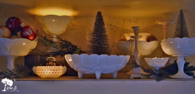 Milkglass Christmas decor