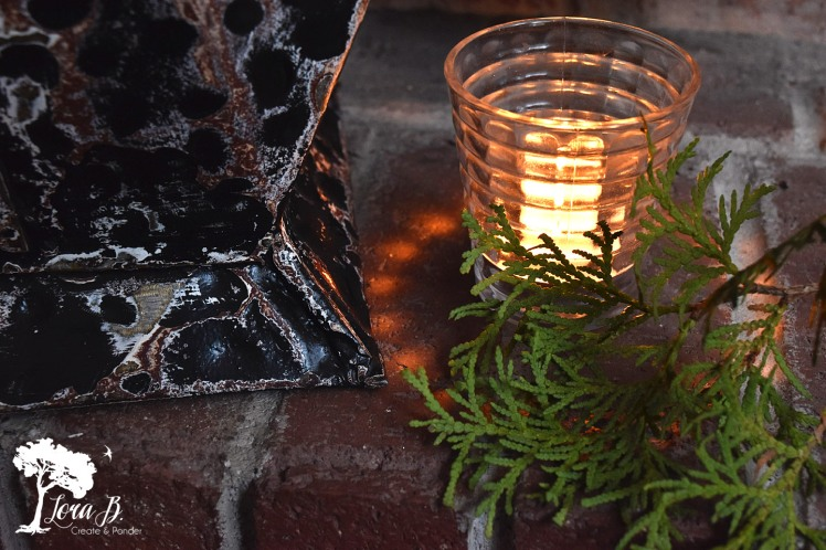 Wintertime candlelight.