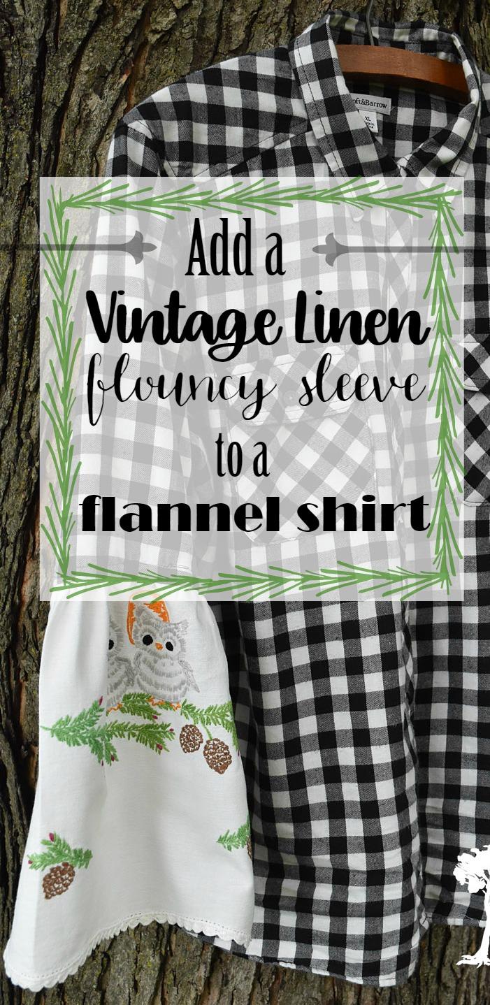 Add a flouncy sleeve to a flannel shirt