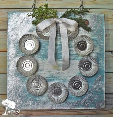 Vintage sandbakkel wreath