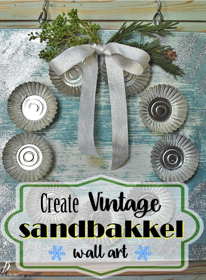 Vintage sandbakkel art pin