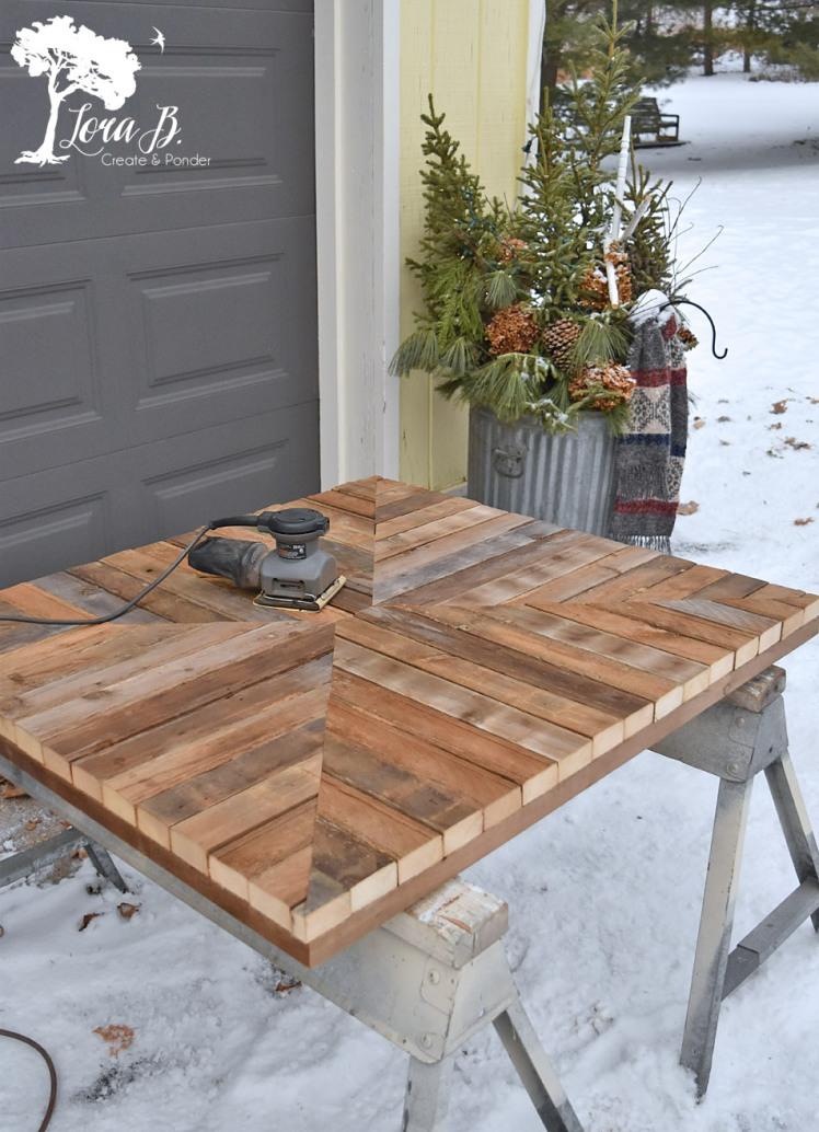 Wood pieced coffee table