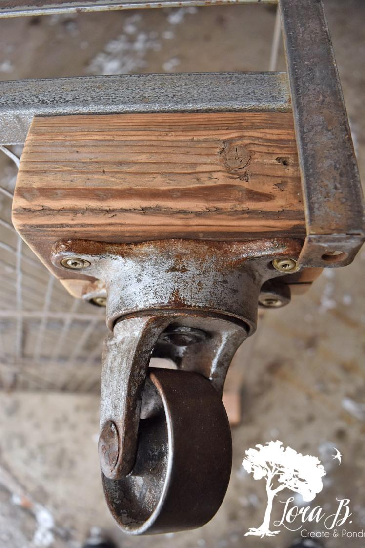 Vintage metal casters